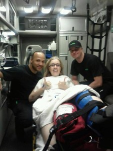 Hurtie' Ambulance Ride